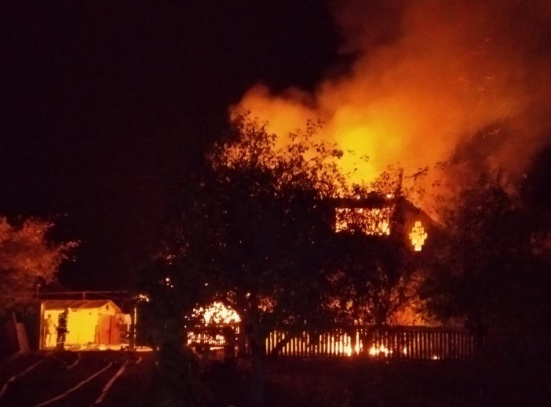 Нічна пожежа на Сумщині