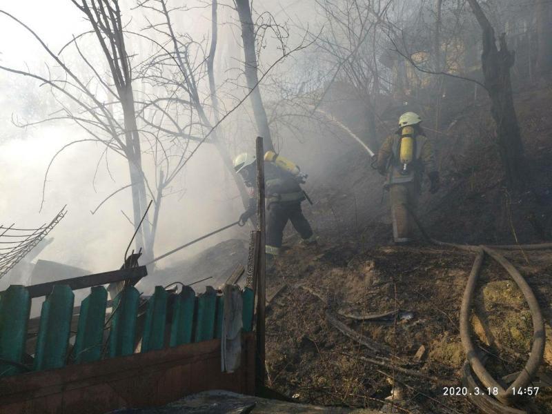 Пожежа в Києві. Фото